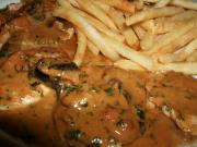 Tarragon Spring Chicken with Mushroom and Wine Sauce