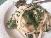 Linguini With Arugula Lemon Chili Oil