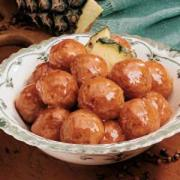 It is a nice idea to serve ham balls in New Years Eve party