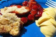 Cherry Cream Pie with Almond Crust