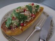 Roasted Delicata Squash with Quinoa, Feta and Apple