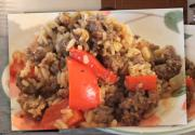 Stuffed Pepper with Meat and Rice
