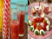 Light and Fresh Party Food - How to Make a Fruity Drink and Two Fresh Appetizers