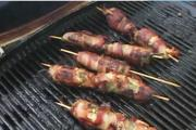 Prawn and Cheese Stuffed Jalapeno Wrapped with Bacon