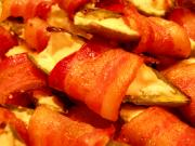 Smoked Bacon Wrapped  Cream Cheese Peppers and Smokies