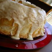 Angel Cake with Almond Butter Sauce