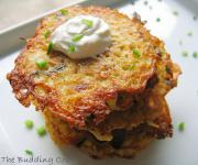 potato pancakes made using grated potatoes