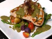 Ola - Grilled Island Shutome with Fresh Vegetables in a Luau Cream Sauce