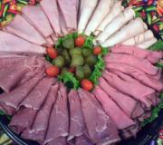 Sumptuous meat trays prepared for guests