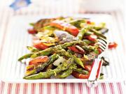 Grilled Portobella & Asparagus Salad