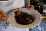 Kabocha Squash And Azuki Beans With Kale
