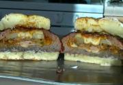 Smoked Stuffed Pizza Burger