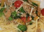 Linguine with Turkey Sausage, Broccoli Rabe and Tomatoes