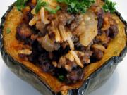 Bean Stuffed Acorn Squash