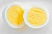 A boiled egg is healthy to eat.
