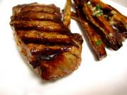 Honey Barbecued Pork Steak