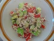 Sprouted quinoa in salad