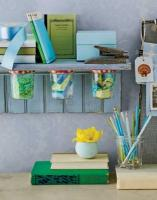 Tips on how you can use jelly jars in your kids room to store goods
