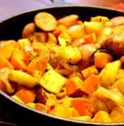 Yam And Sausage Skillet