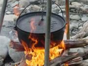 using Dutch oven for outdoor cooking