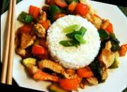 Chicken and Vegetable Stir Fried in Hoisin Sauce