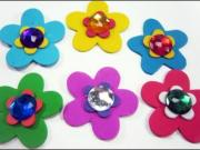 How to make layered foami flowers