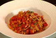 Shrimp Bolognese with Linguine Pasta