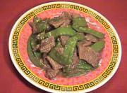 Chinese Stir Fried Beef with Snow Peas