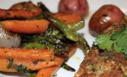 Herb Crusted Salmon with Roasted Vegetables