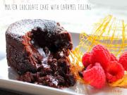Molten Chocolate Cake with Caramel Filling