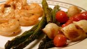 Broiled buttery shrimp