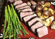 Java Crusted New York Steak With Guinness Reduction