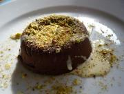 Nut Pudding with Vanilla Sauce