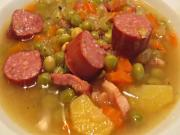 German Dutch Oven Pea Soup: English Grill and BBQ