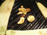 Grilling garlic.