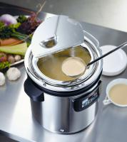 Use a soup warmer to keep soup warm