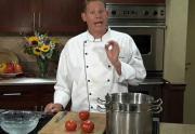 Coring and peeling tomatoes