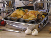 Serve food on roasting tray