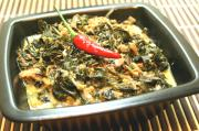 Spinach Laing with Tuna Flakes