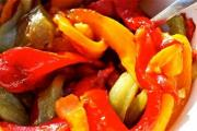 Marinated Tricolored Sweet Peppers