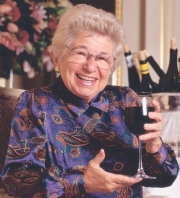 Dr. Ruth's sex advice is centered on low-alcohol wine.