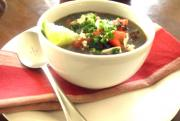 Cuban Black Bean Soup in the Crock-Pot