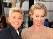 Ellen Degeneres and Portia de Rossi go for fine Italian dining after Emmy Awards.