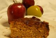 Walnut Upside Down Cake with Apple Topping
