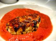 Peppered Tuna Steak With Tomato Coulis