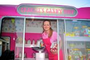 Melanie Richings inside her candy shop