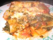 Red Pepper-Spinach Pasta Bake