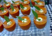 Sour Cream Topped Tomato Soup