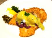 Breaded Veal Escalope with Ham and Egg