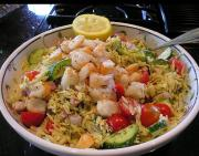 Greek Orzo Salad with Feta and Shrimp